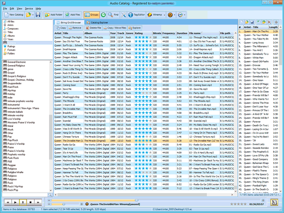Click to view Audio Catalog 4.7 screenshot