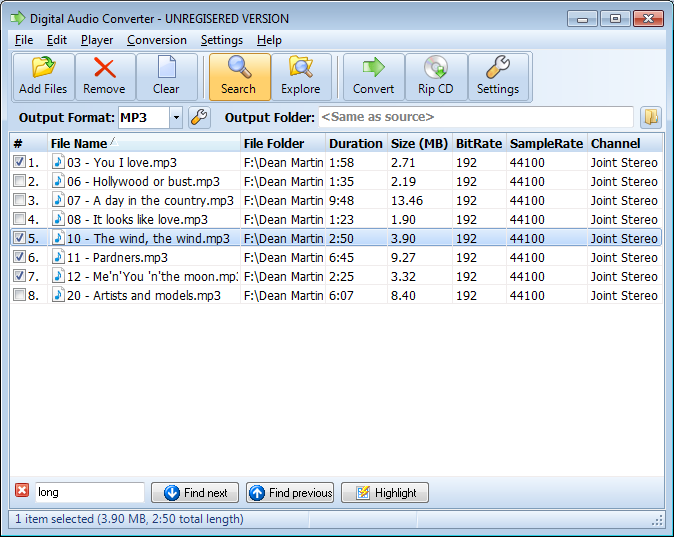 Convert batches audio files